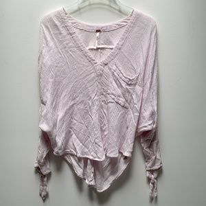 FREE PEOPLE Cotton Gauze Dolman V-neck Size Small